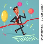 happy smiling successful... | Shutterstock .eps vector #1043538064