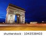 arc de triomphe  paris  france  ... | Shutterstock . vector #1043538403