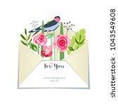 flower spring summer bouquet... | Shutterstock .eps vector #1043549608