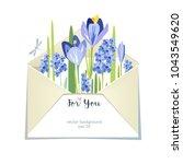 flower spring summer bouquet... | Shutterstock .eps vector #1043549620