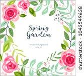 background spring flower garden ... | Shutterstock .eps vector #1043549638