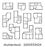apartment vector plans ... | Shutterstock .eps vector #1043553424