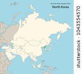 asia map  north korea | Shutterstock .eps vector #1043554570