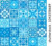 seamless vector tile pattern.... | Shutterstock .eps vector #1043558689