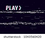 vhs glitch. play effect... | Shutterstock .eps vector #1043560420