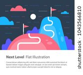 next level concept  upgrade ... | Shutterstock .eps vector #1043566810