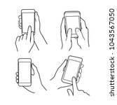 hands collection  vector... | Shutterstock .eps vector #1043567050