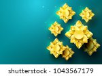 gold abstract flowers asian... | Shutterstock .eps vector #1043567179