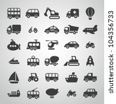 transportation icon set | Shutterstock .eps vector #104356733
