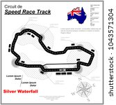 speed race circuit map with... | Shutterstock .eps vector #1043571304