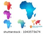 africa map   set of geometric... | Shutterstock .eps vector #1043573674