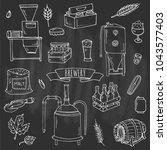 hand drawn doodle set of... | Shutterstock .eps vector #1043577403