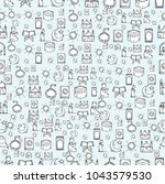islamic icons seamless pattern. ... | Shutterstock .eps vector #1043579530