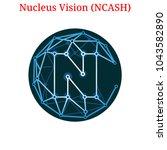 vector nucleus vision  ncash ... | Shutterstock .eps vector #1043582890