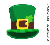 st. patrick's day green... | Shutterstock .eps vector #1043590474