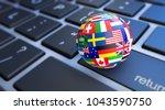 international business concept... | Shutterstock . vector #1043590750