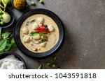 green curry with fish ball  ... | Shutterstock . vector #1043591818