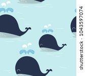 blue whale pattern.  vector eps ... | Shutterstock .eps vector #1043597074