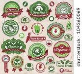 vintage organic label set... | Shutterstock .eps vector #104360069