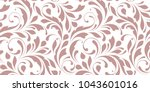 floral seamless pattern. ornate ... | Shutterstock .eps vector #1043601016