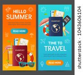 summer travel and tourism... | Shutterstock .eps vector #1043606104