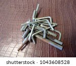 Small photo of Hex key, Allen key or Allen wrench, tool used to drive bolts and screws with hexagonal sockets.