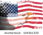 Usa Flag With Eagle Grunge....