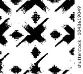 grunge halftone black and white ... | Shutterstock .eps vector #1043619049