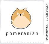 pomeranian   dog breed... | Shutterstock .eps vector #1043619664