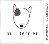 bull terrier   dog breed... | Shutterstock .eps vector #1043619670