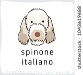 spinone italiano   dog breed... | Shutterstock .eps vector #1043619688