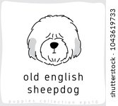 old english sheepdog   dog... | Shutterstock .eps vector #1043619733
