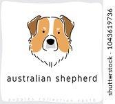 australian shepherd   dog breed ...   Shutterstock .eps vector #1043619736