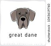 great dane   dog breed... | Shutterstock .eps vector #1043619760