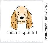 cocker spaniel   dog breed... | Shutterstock .eps vector #1043619763