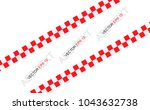 red checkered flag. racing flag ... | Shutterstock .eps vector #1043632738