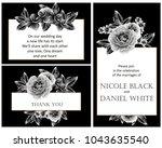vintage delicate invitation... | Shutterstock . vector #1043635540