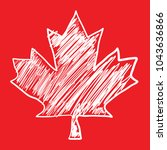 a canadian maple leaf icon that ... | Shutterstock .eps vector #1043636866