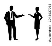 silhouette businessman  vector | Shutterstock .eps vector #1043637088