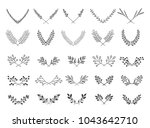 collection of beautiful... | Shutterstock .eps vector #1043642710