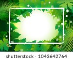 natural background with green... | Shutterstock .eps vector #1043642764
