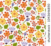 vector seamless pattern with... | Shutterstock .eps vector #1043646850