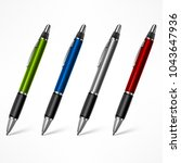 set of pens  different for... | Shutterstock .eps vector #1043647936