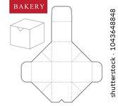 package for bakery.vector... | Shutterstock .eps vector #1043648848