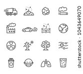 pollution icon set  vector... | Shutterstock .eps vector #1043649070