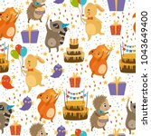 vector seamless pattern with... | Shutterstock .eps vector #1043649400