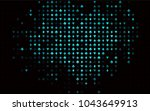 dark blue  green vector cover... | Shutterstock .eps vector #1043649913