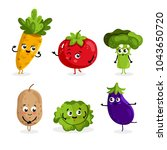 cartoon funny vegetable... | Shutterstock . vector #1043650720