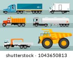 different commercial trucks.... | Shutterstock . vector #1043650813
