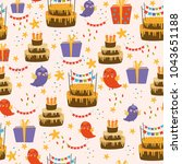 vector seamless pattern with... | Shutterstock .eps vector #1043651188